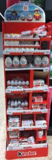 Ferrero kinder Display schmal in Spanien