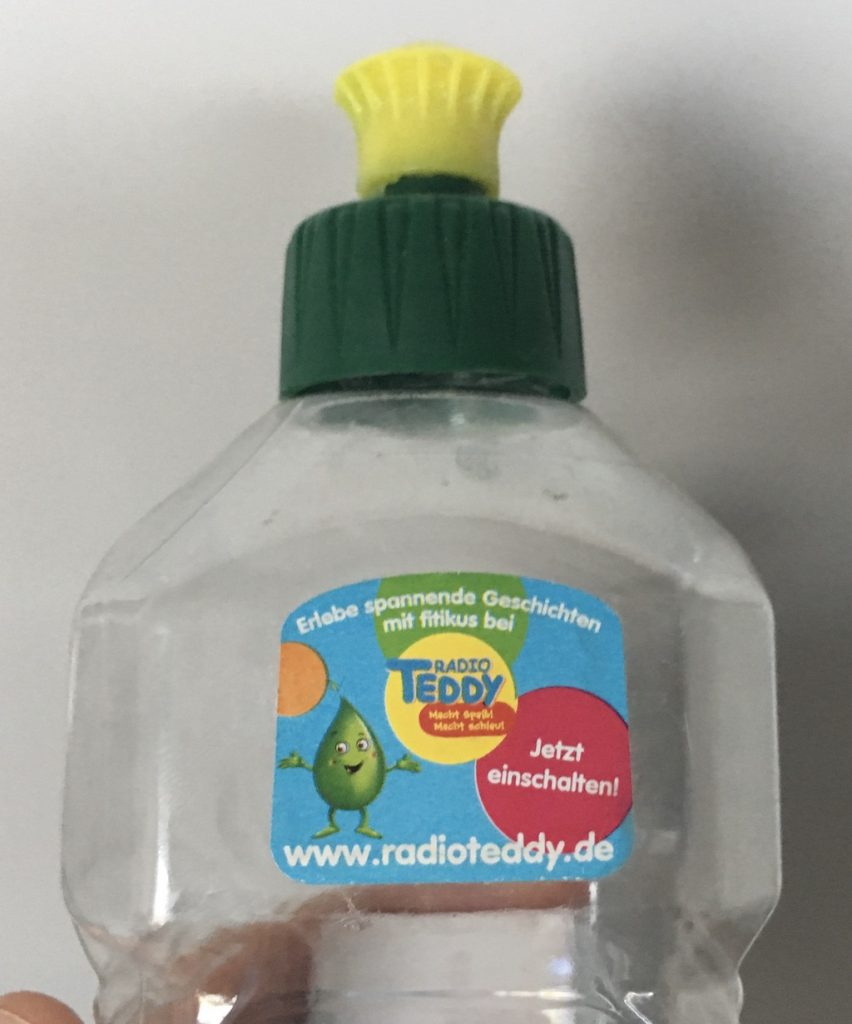 Fit Spülmittel mit Werbeaufkleber Radio Teddy