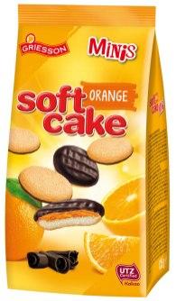 Griessons Soft Cake Klassik mit Orangengeschmack gibt es auch als Minis im Standbeutel (125 Gramm).