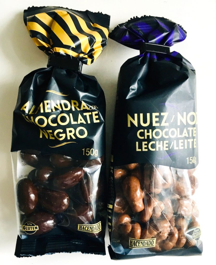 Hacendado Nüsse in Schokolade