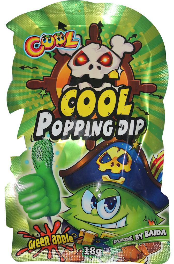 International Sweet Trading Köthen Cool Popping Dip Brauspulver mit Knistereffekt Apfelgeschmack Thunbs up