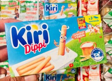 Kiri Dippi Frischkäsedip mit Weizenstäbchen
