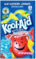 Kool-Aid unsweetened Drink Mix Caffeine Free Good Source of Vitamin D 6 Gramm Blue Rasberry-Lemonade