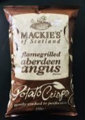 Mackie's of Scotland flamegrilled aberdeen angus Potato Crisps gently cooked to perfection 150 Gramm