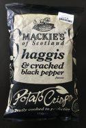 Mackies of Scotland haggis & cracked black pepper Potato Crisps 150 Gramm