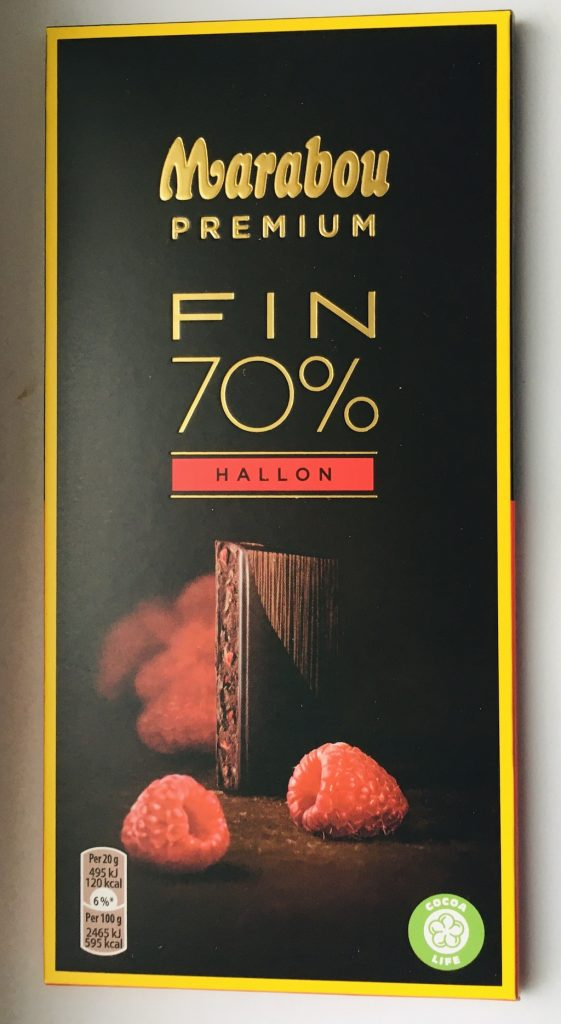Marabou Premium Fin 70% Hallon Himbeere Tafelschokolade