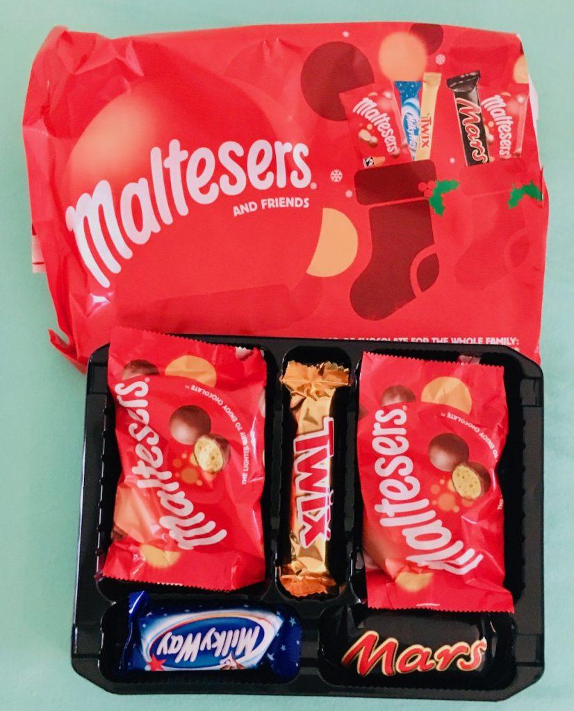 Mars Chrismas Tray Set mit Maltesers TWIX Milky Way