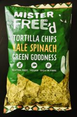 Mister Free'd Tortilla Chips Kale Spinach Green Goodness