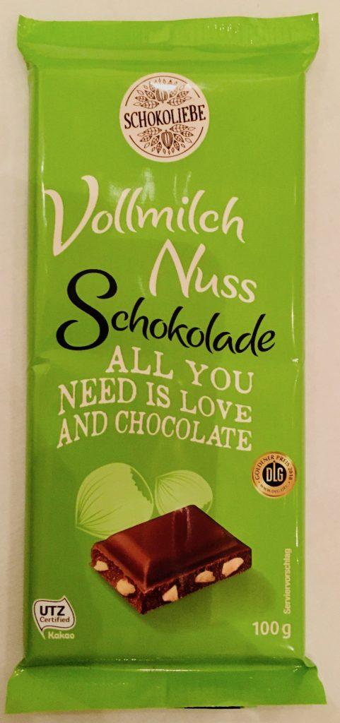 Netto Schokoliebe Vollmilch Nuss Schokoladentafel 100 Gramm