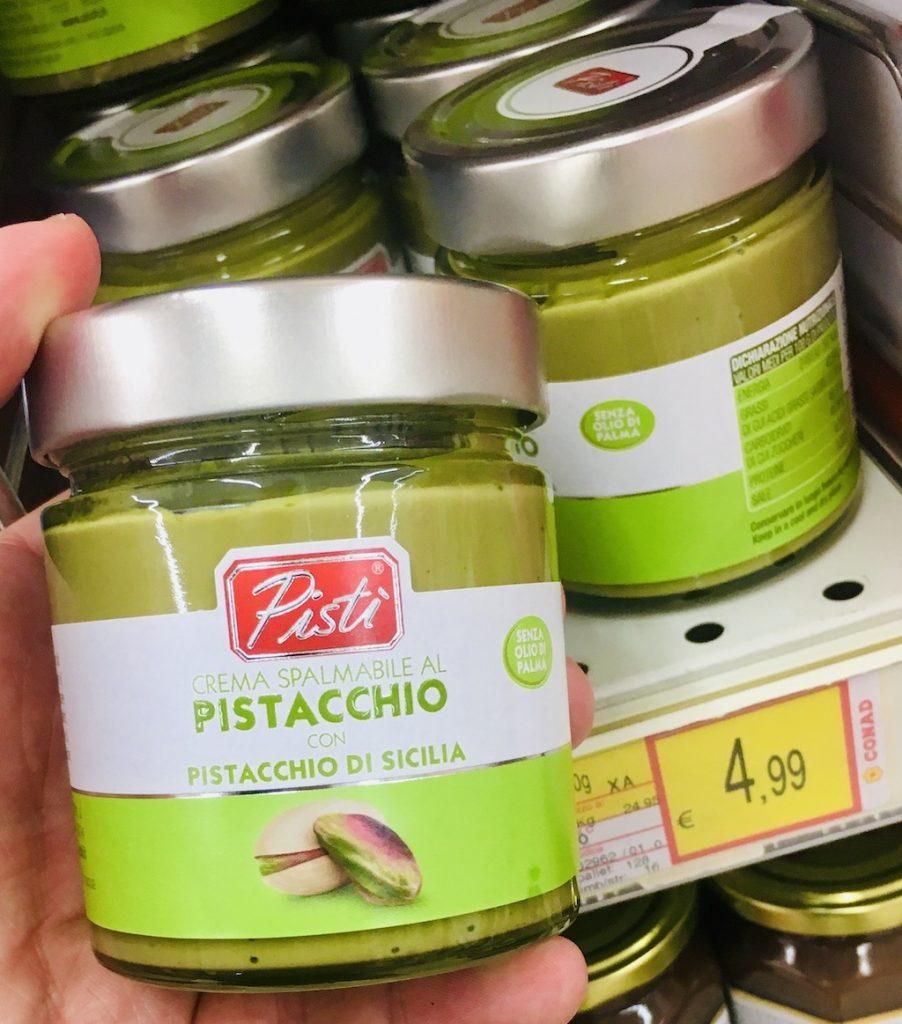 Pisti Crema Pistacchio aus Pistazien aus Sizilien Nusscreme