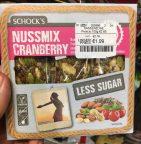 Schock's Nussmix Cranberry Less Sugar Müsliriegel Vegan Glutenfrei Lactosefrei