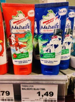 Tabaluga Malseife für Kinder Himbeerduft - Blaubeer-Duft