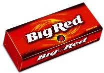 Wrigley's Big Red-Kaugummi mit scharfem Zimtgeschmack.