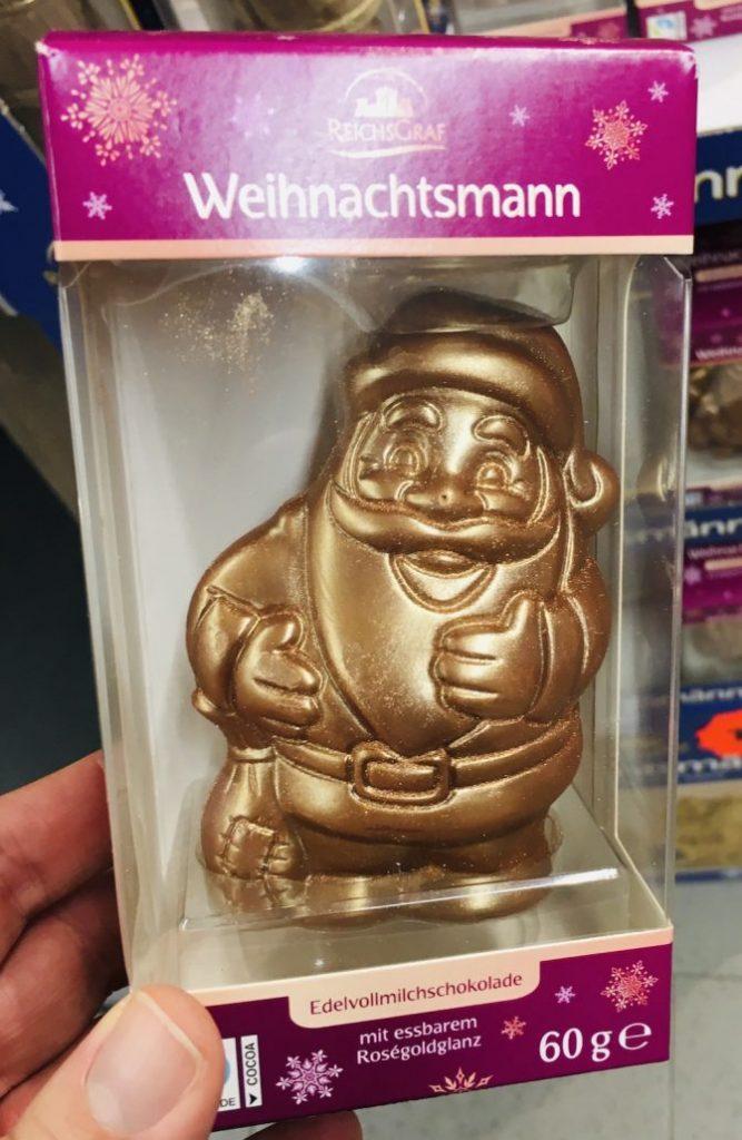 Aldi Reichsgraf Weihnachsmann mit Goldglasur 60 Gramm