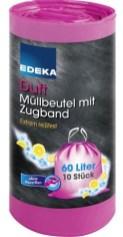 EDEKA Müllbeutel mit Zugband Zitronenduft