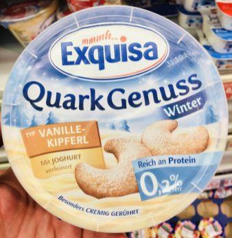 Exquisa Quark Genuss Typ Vanille-Kipferl Winter