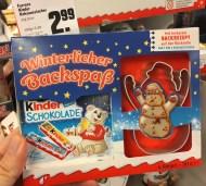 Ferrero Kinder-Schokolade Winterlicher Backspaß mit Keksausstecher