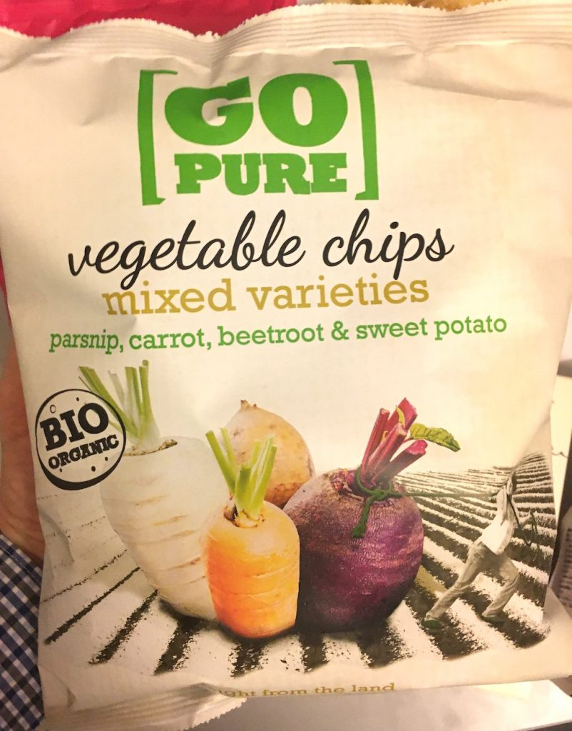 Go Pure Vegetable Chips mixed varieties parsnip-carrot-beetroot-sweet potata