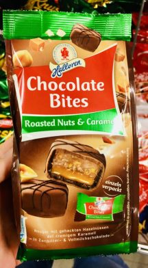 Halloren Chocolate Bites Roasted Nts+Caramel einzeln verpackt