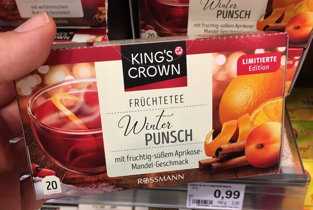 Kings Crown Winterpunsch Früchtetee Fruchtig-Süßer Aprikose-Mandel-Geschmack