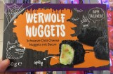 Lidl Werwolf Nuggets Schwarze Chili Cheese Nuggets mit Bacon Tiegefrorener Snack zu Halloween