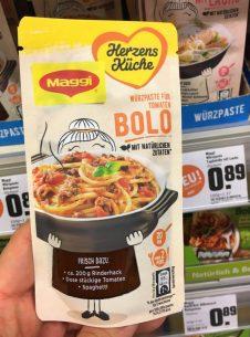 Maggi Herzensküche Würzpasta für Tomaten-Bolo