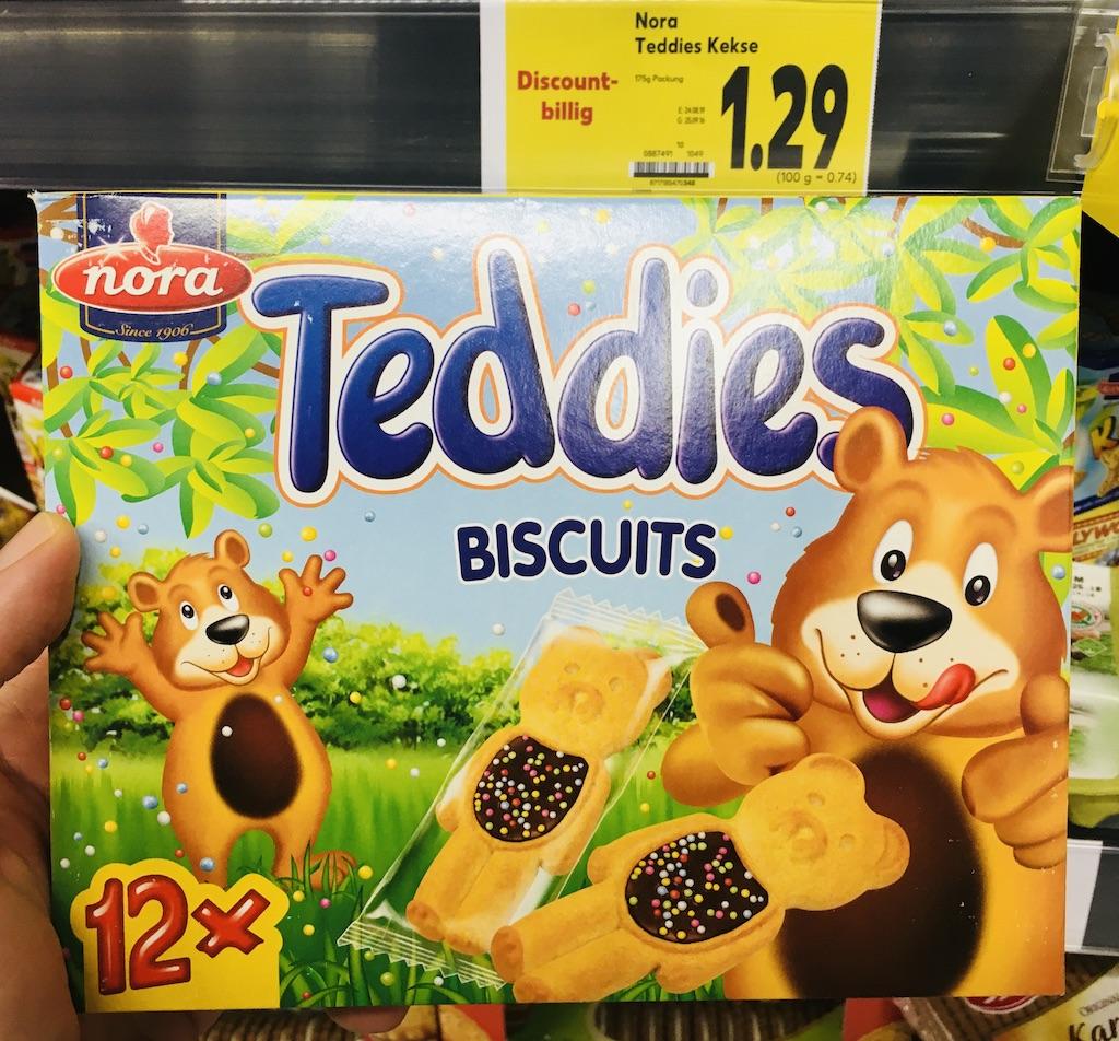 Netto Nora Teddies Biscuits Kekse 12 Stück