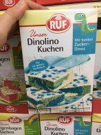 RUF Unser Dinolino Kuchen mit bunten Zuckerdinos Backmischung