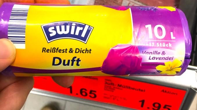 Swirl Müllbeutel mit Vanille-Lavendel-Duft