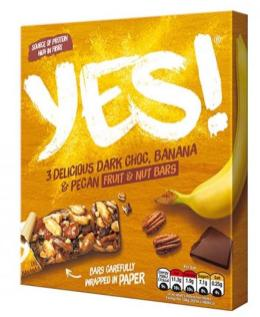 Nestlé Yes! Dark Choclate-Banane-Nussriegel