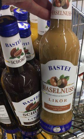 Bastei Schoko- und Haselnuss Eierlikör