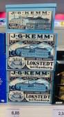Budni JG Kemm Kuchen- und Zwiebackfabrik Lokstedt bei Hamburg Schmuckdose aus Metall