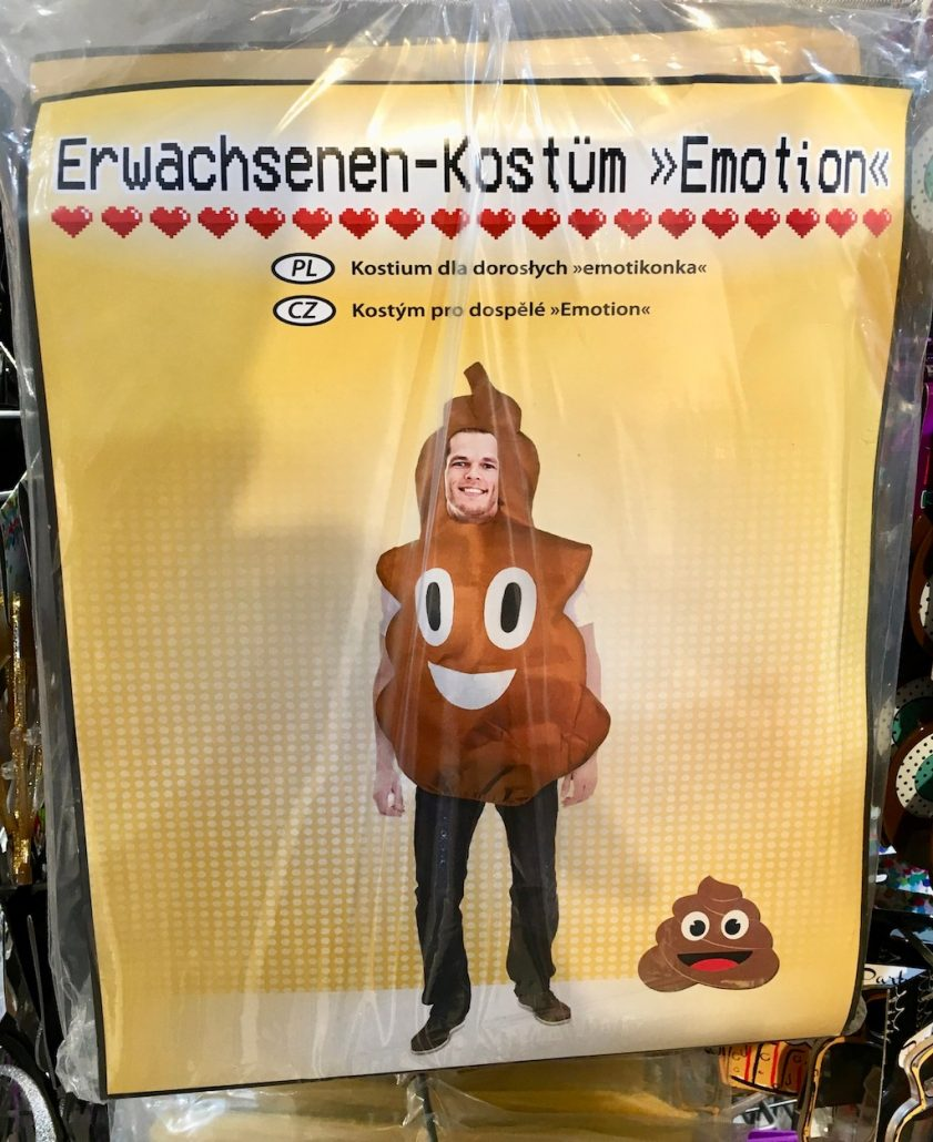 Erwachsenenkonstüm Scheiße Emoji