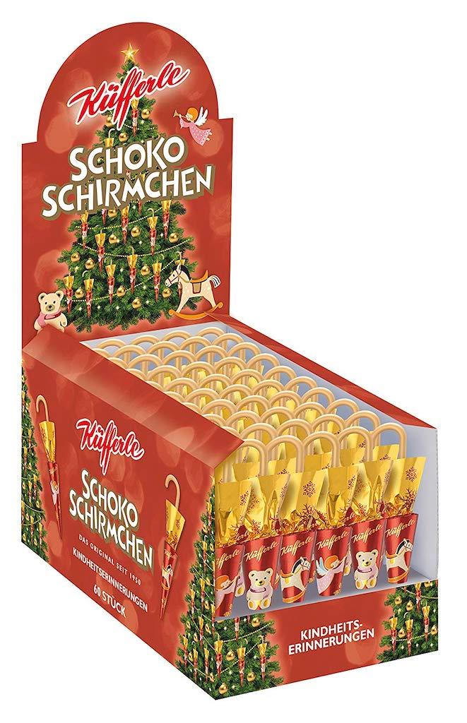 Küfferle Schokoschirmchen Kindheitserinnerungen Schuber Weihnachtsedition