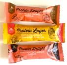 Multipower Protein Delight Riegel Salty Peanut Caramel-White Chocolate Strawbery-Dark Chocolate Mocha