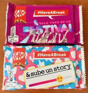Nestlé KitKat Pop-Verpackungen aus Spanien 2019