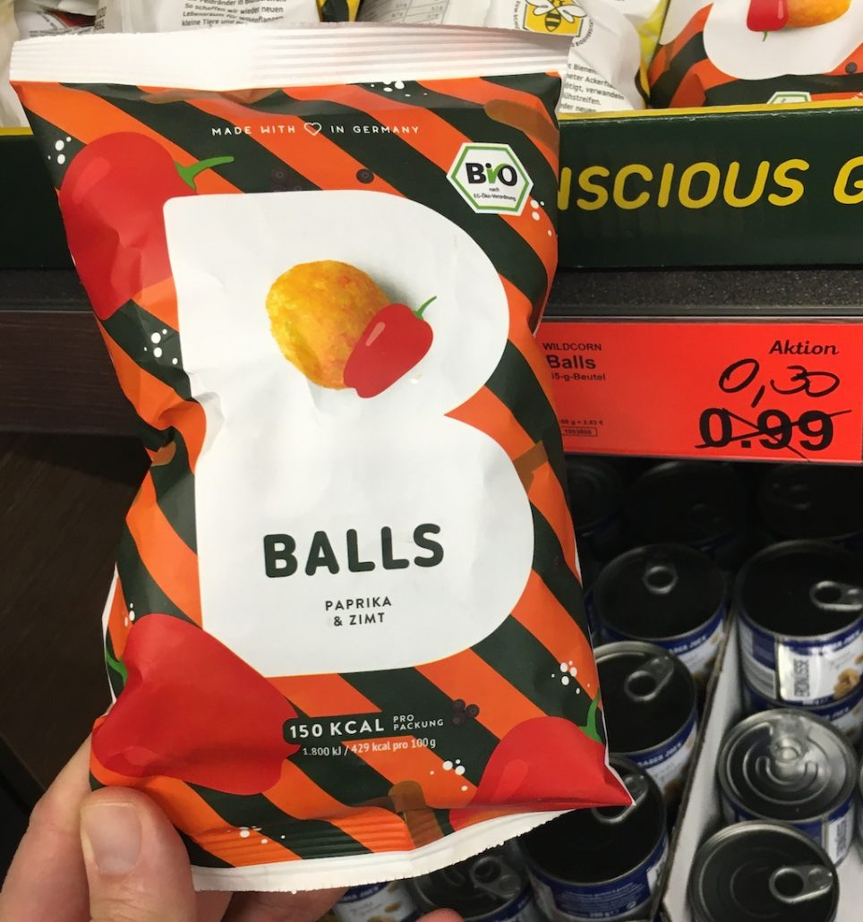 Aldi Propercorn Balls Paprka-Zimt