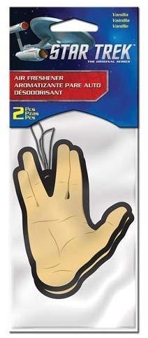 Star Trek Air Freshener Handform Gruß Spok Vanilla