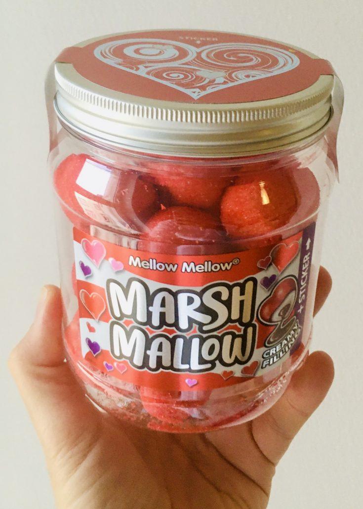 Tri D'Aix Mellow Mellow Marshmallow-Herzen mit Schokofüllung Dose oben