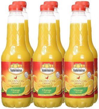 Valensina Frühstücks-Orange Kunststoffflasche