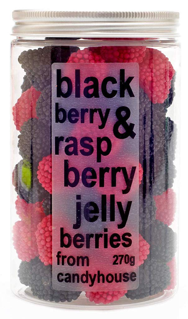 Candyhouse Black bery+raspberry jelly berries 270 Gramm
