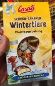 Casali Manner Schoko-Bananen Wintertiere Christbaumbehang Maus