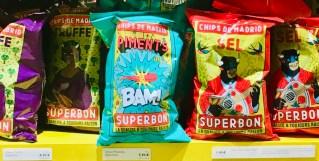 Comic-Verpackung Motiv Chips de Madrid Piments BAM Superbon