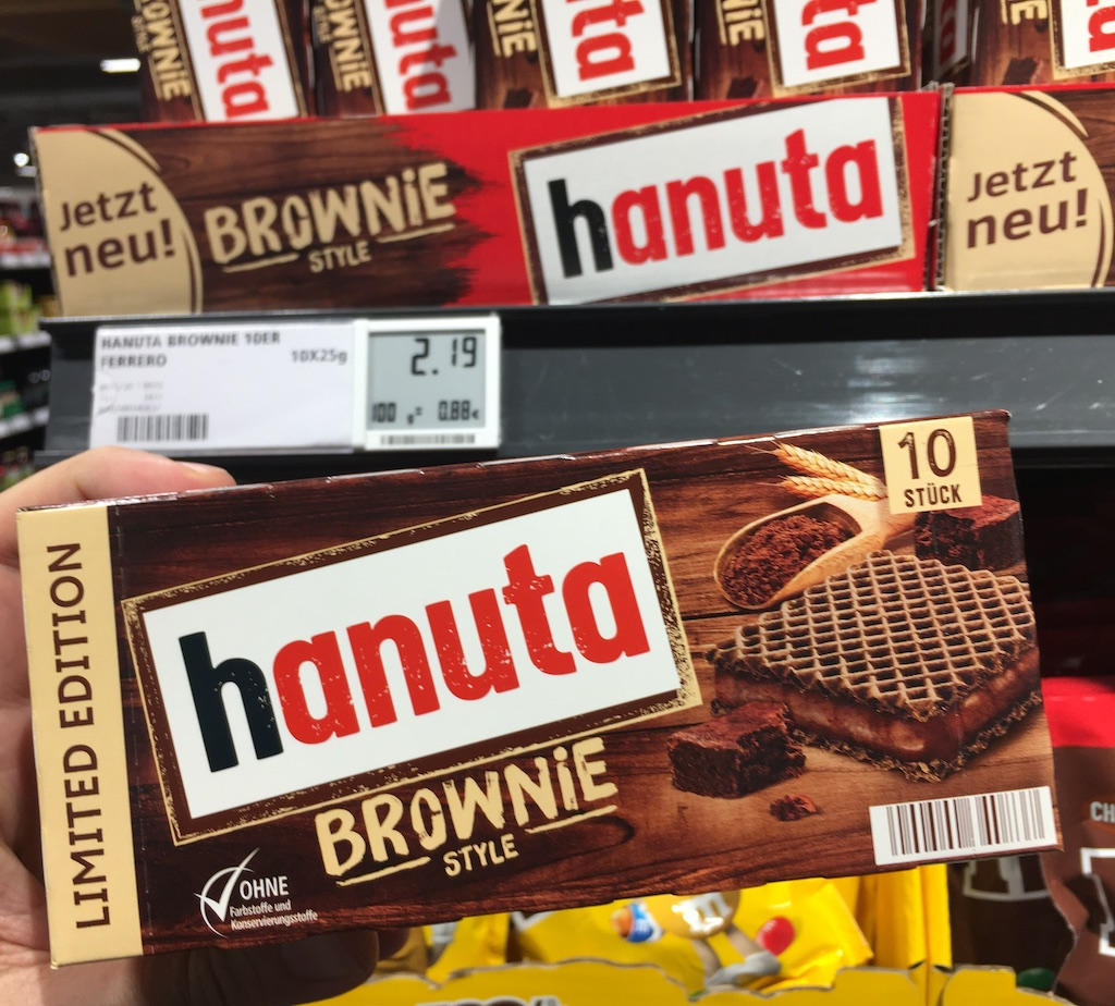 Ferrero hanuta Brownie Style 10er Packung
