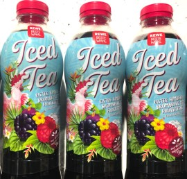 REWE Beste Wahl Iced Tea Papagei-Beeren-Motiv