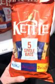 Kettle 5 Single Bags Salted Balsamico Vinegar Chedar Cheese