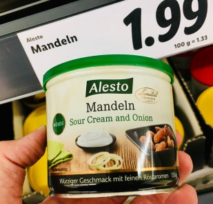 Lidl Alesto Mandeln Sour Cream and Onion 150 Gramm