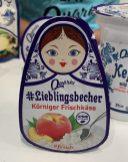 Quarki fresh food-Lieblingsbecher Körniger Frischkäse Pfirsich