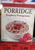 Aldi British Style Porridge Raspberry Pomegranate