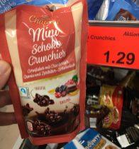 Aldi Chateau Mini Schoko Crunchies Cornflakes mit Cranberries-Aronia und Zartbitter-Schokolade